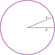 16-gon inscribed in a circle