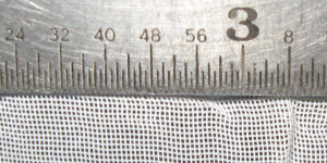 curtain mesh with ruler