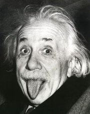 Albert Einstein acting silly
